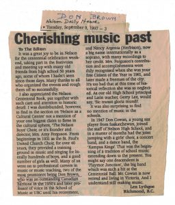 Article from Nelson Daily News 1997